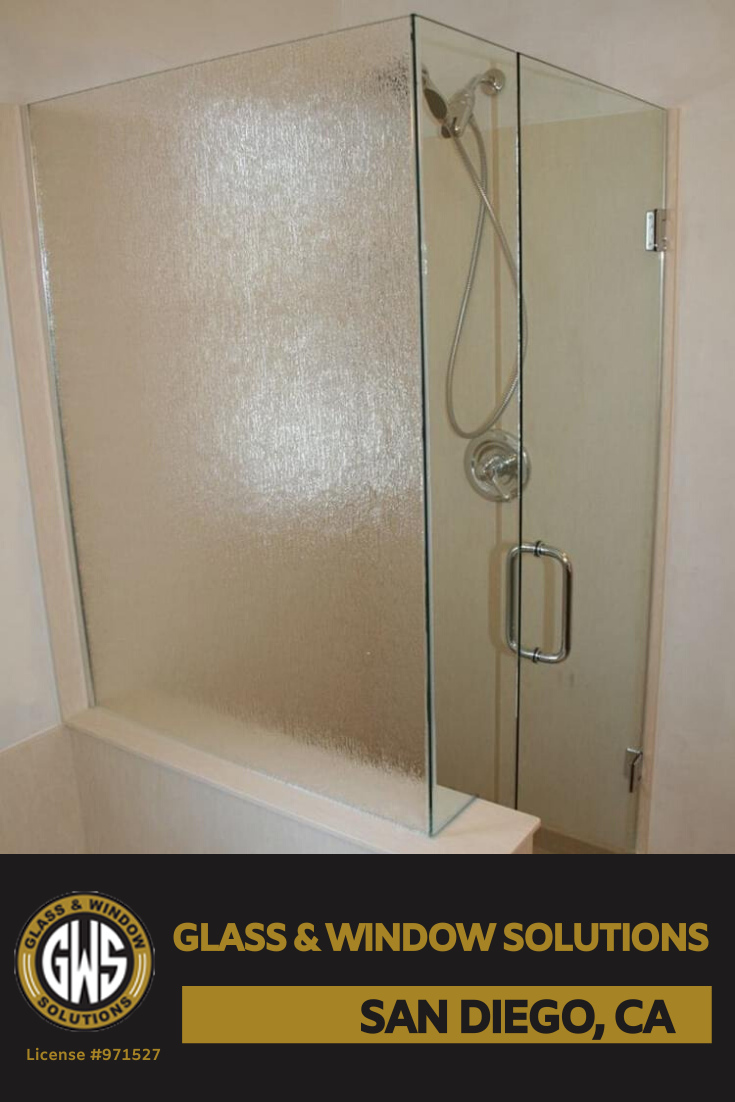 A Frosted Glass Shower Door At The Corner Of Your Bathroom Is One