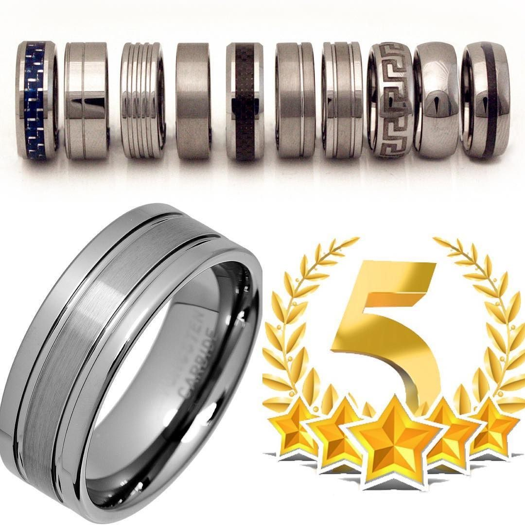 Most of our Tungsten Carbide Rings have excellent 5 star