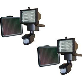 Sunforce 82156 60 Led Ultra Bright Motion Light 2 Pack 60w White Leds Brighten Up Any Outdoor Space No Wi Motion Lights Solar Motion Lights Solar Flood Lights
