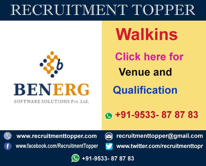 Benerg software walkins for experienced at hyderabad