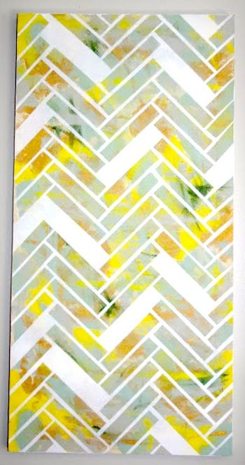 herringbone canvas with electrical tape and white spray paint | DIY ...