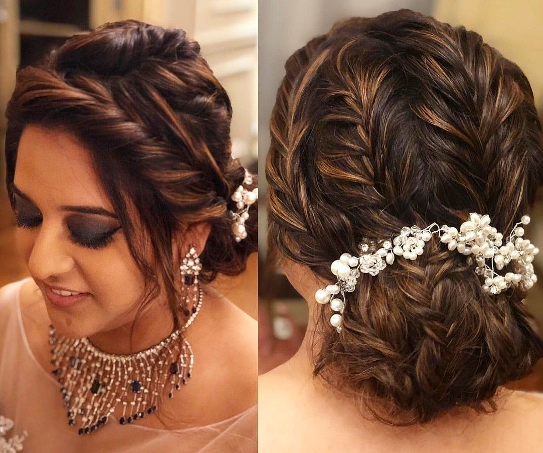 Pin By Heena On Hairstyle Engagement Hairstyles Bun Hairstyles For Long Hair Bridal Hair Buns