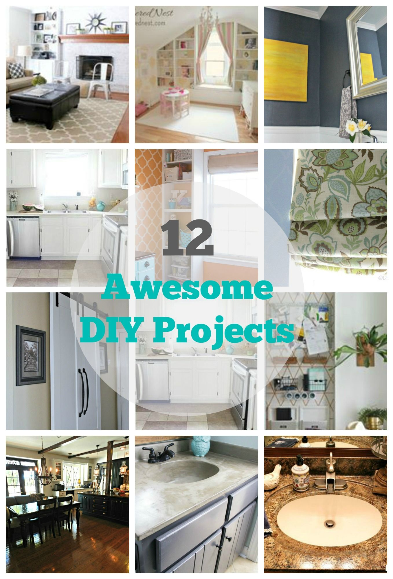 12 DIY Home Improvement Projects | DIY ideas, Creative and ...