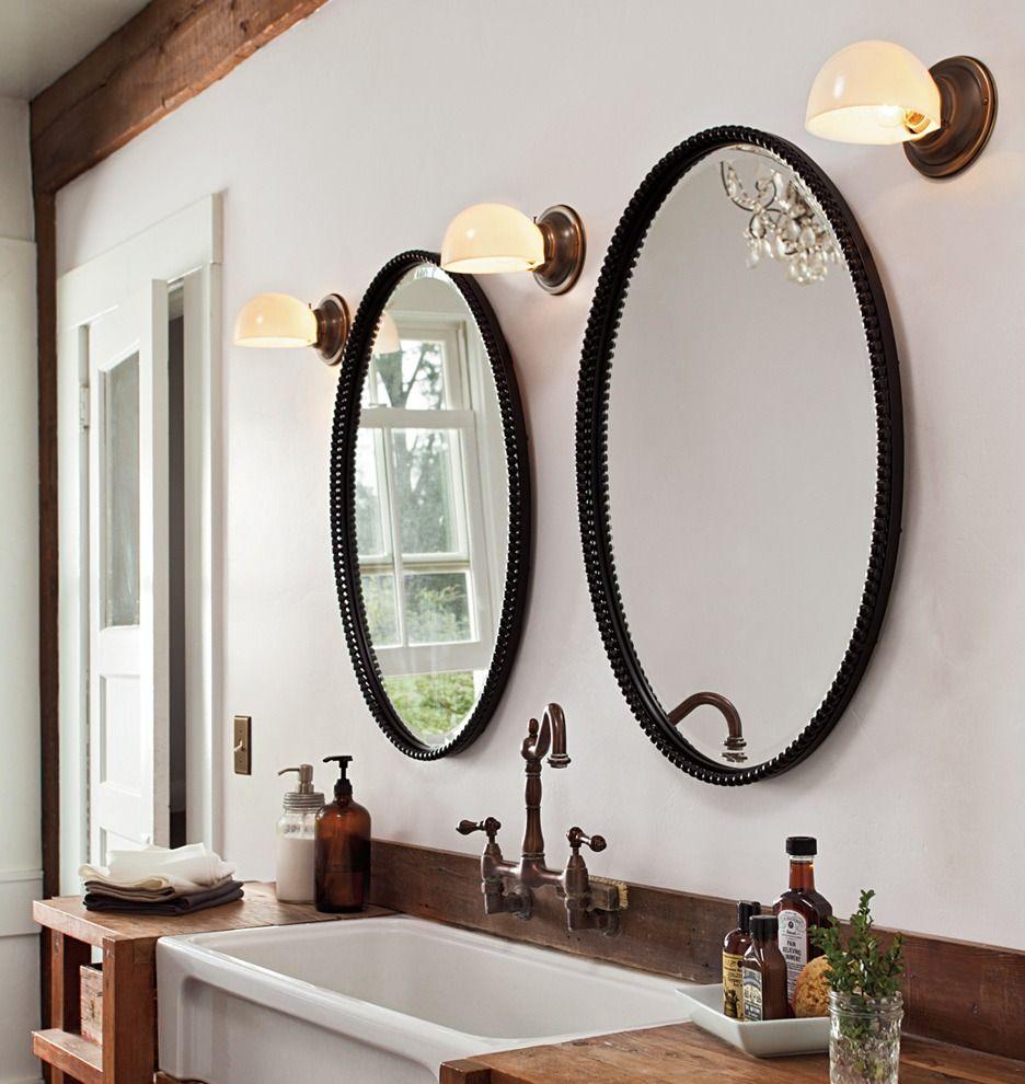 Badezimmer-eitelkeiten mit spiegeln three sconces from rejuvenation for the bathroom pretty methinks