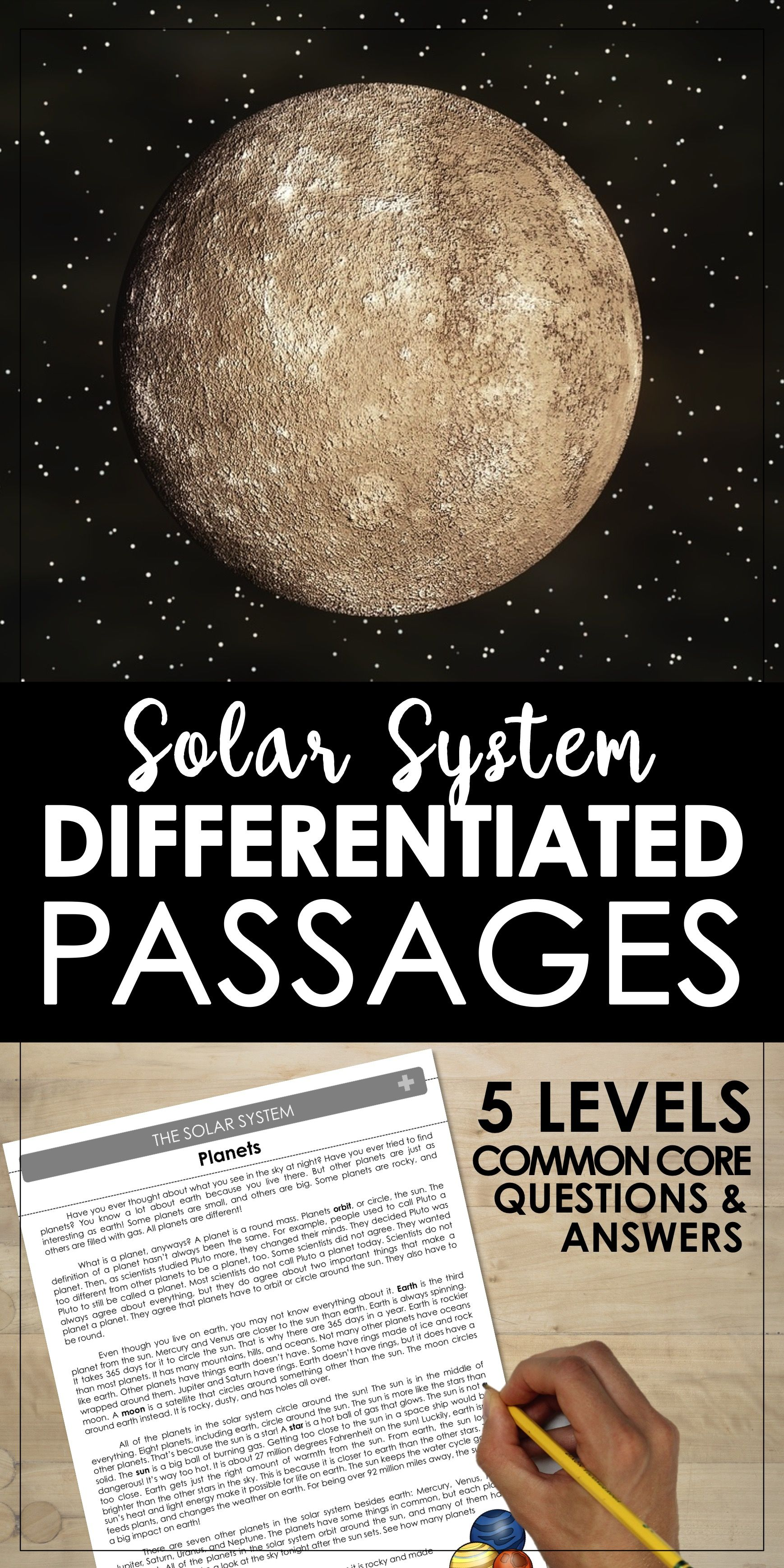 Solar System Differentiated Leveled Reading Passages Planets Stars In The Sky Early Astrono Reading Passages Solar System Differentiated Reading Passages [ 3476 x 1738 Pixel ]