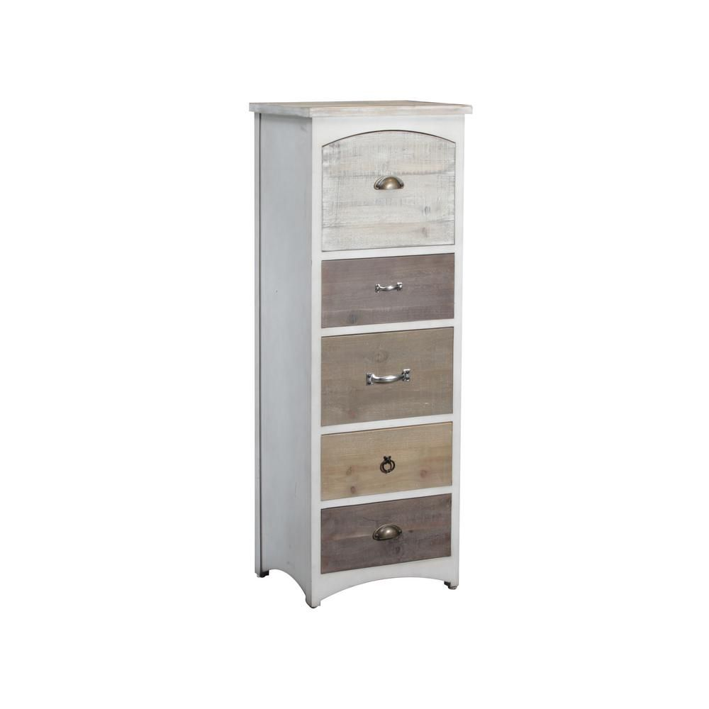 Powell Company Brighton Tall Chest White And Driftwood Tones 15a8136sh The Home Depot Wood Storage Cabinets White Tall Chest Driftwood Furniture [ 1000 x 1000 Pixel ]