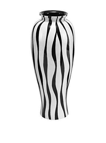 Deco 79 Polystone Lacquer Zebra Vase 28 By 12 Inch Aspire Http