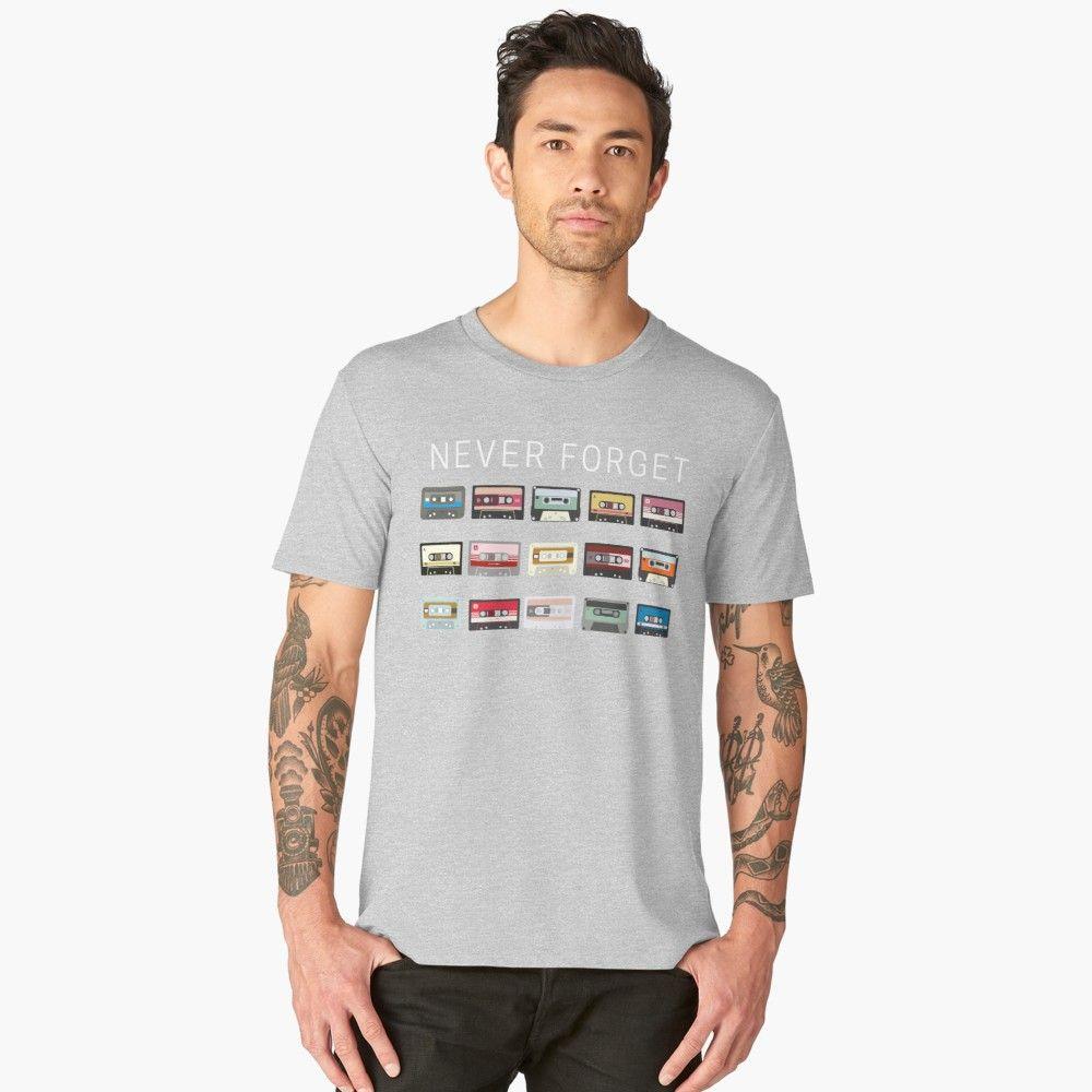 726cb0715 Never Forget Cassettes Men's Premium T-Shirt Front. '