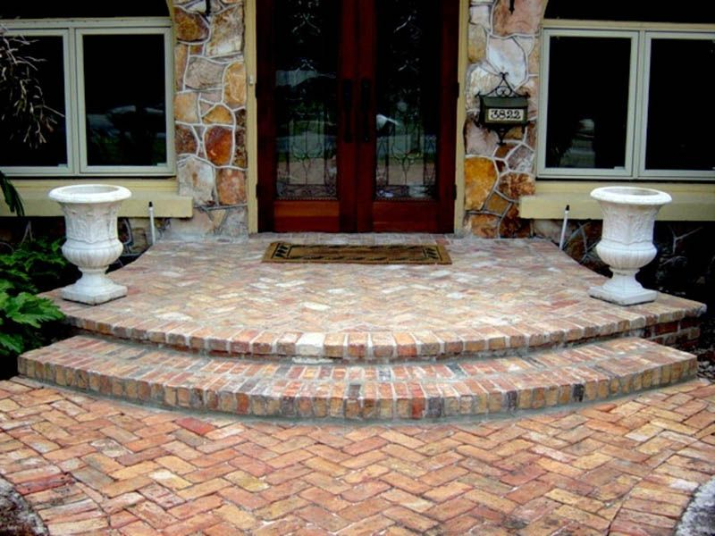 Google Image Result For Http Www Homeaccentsolutions Com Images Gallery Steps 2 Jpg Brick Pavers Round Stairs Porch Steps