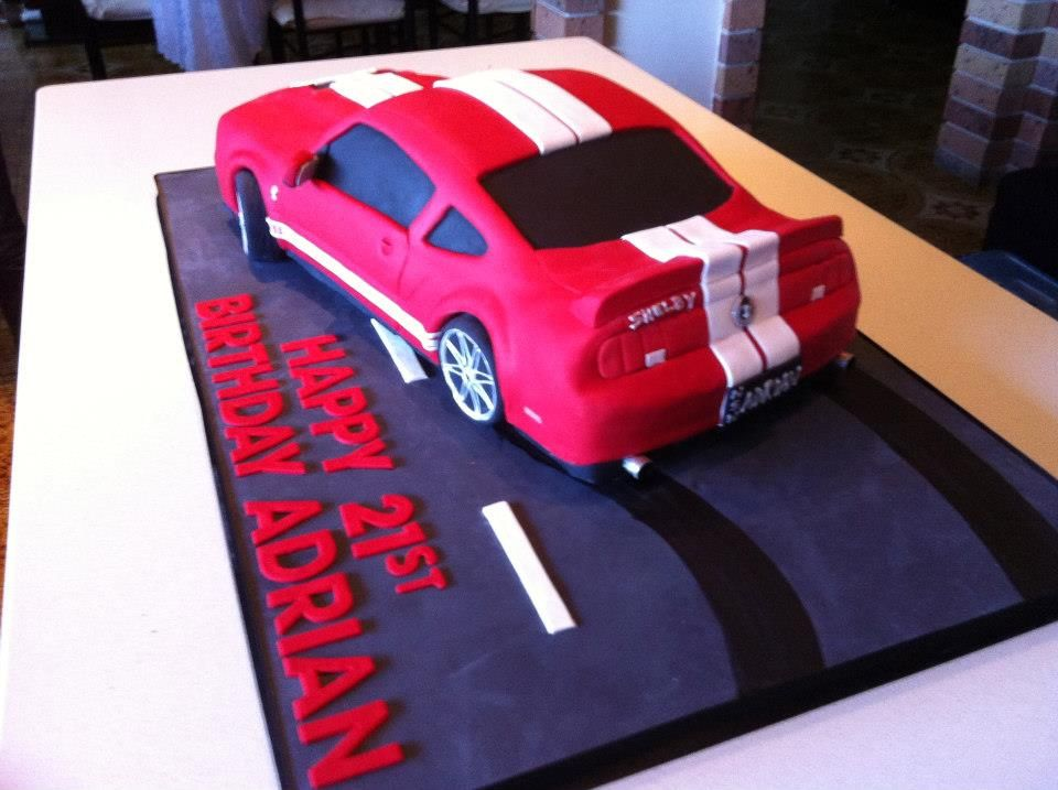43 best car cakes images on Pinterest Car cakes Mustang cake and