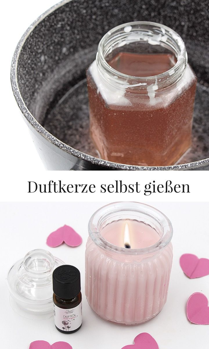 duftkerzen selber machen mit rose und lavendel diy ideen. Black Bedroom Furniture Sets. Home Design Ideas