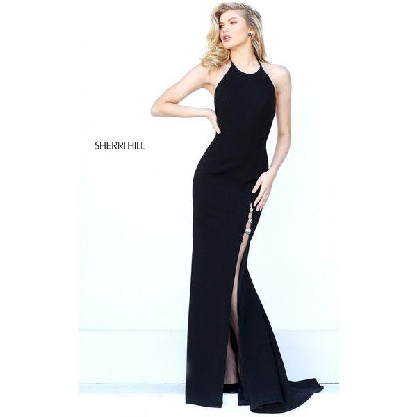 Sexy Black Sherri Hill 50647 Long Open Back Homecoming Dress
