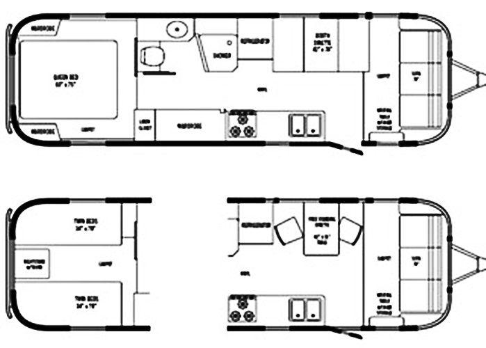 Airstream Sovereign 31 Floor Plan Design