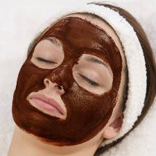 My favorite facial mask...CHOCOLATE!!  Smells so yummy and yummy for your skin, too.