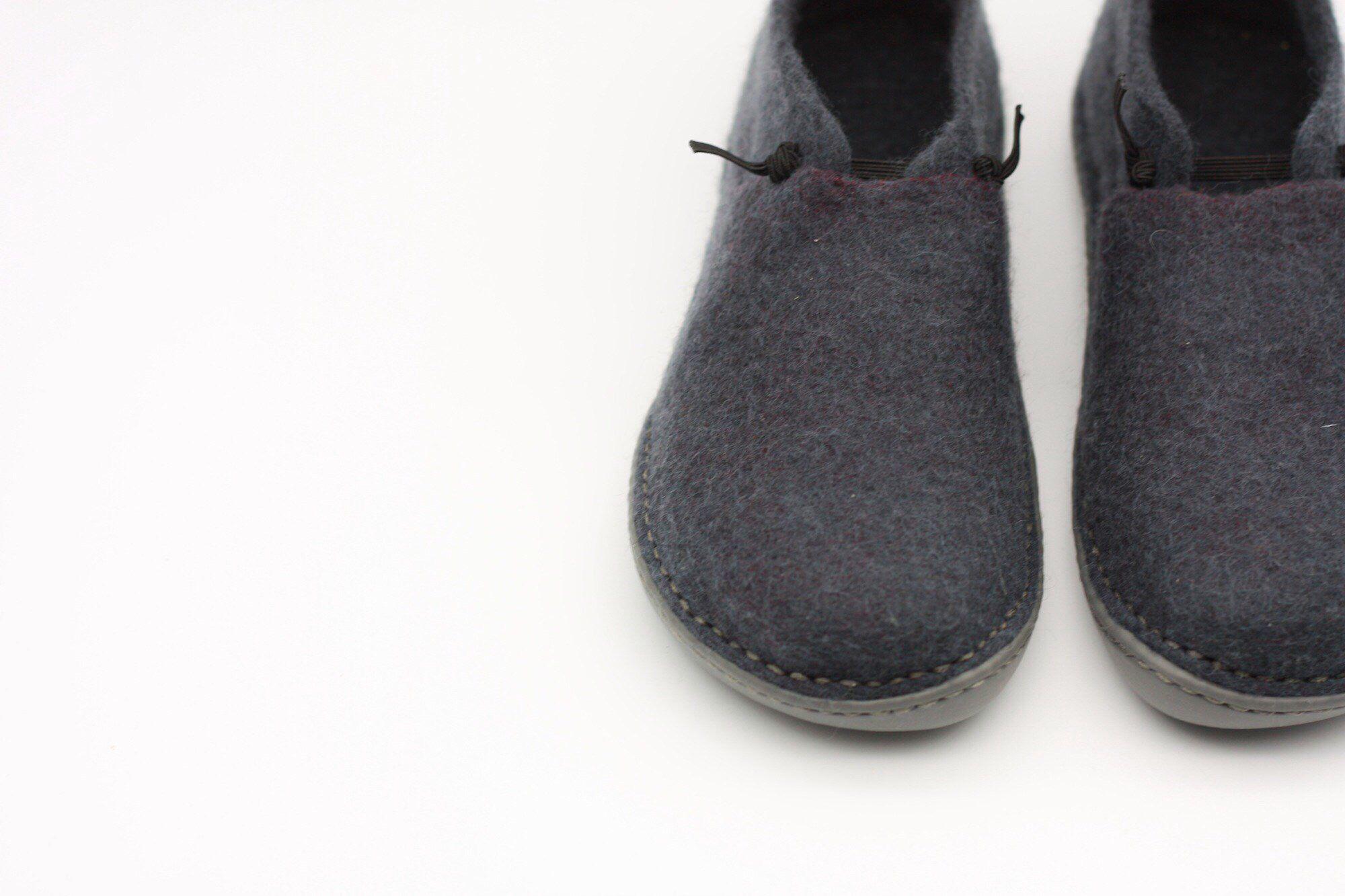 3235954818079 LUCIELALUNE stylish ballet shoes handmade felted merino wool slip on ...