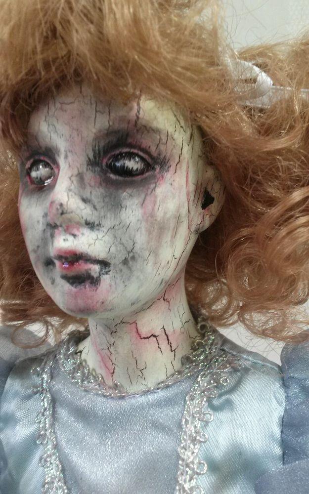 Creepy Ooak Reborn Horror Gothic Doll Fairy Godmother Scary