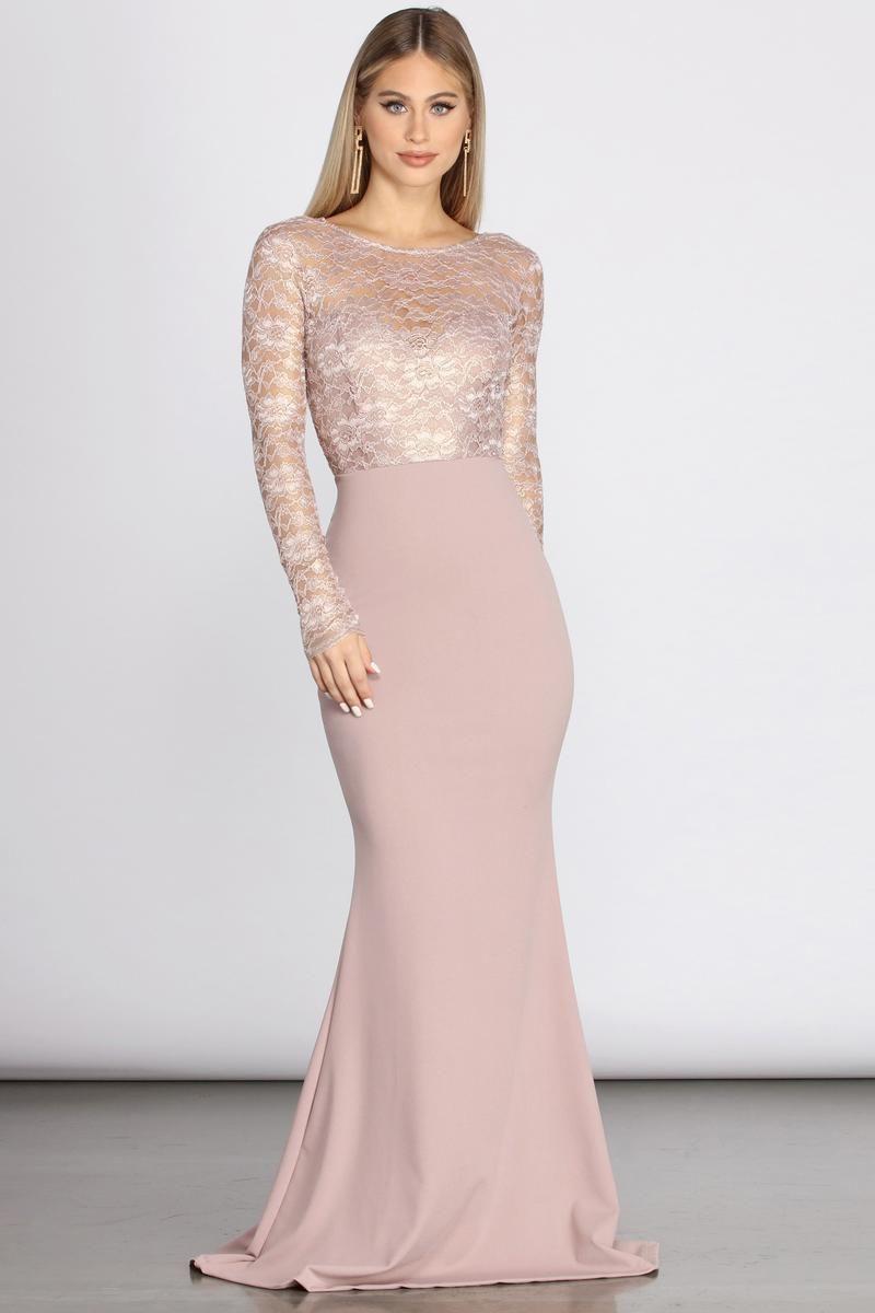 Ariella Take A Bow Formal Dress In 2021 Blush Formal Dresses Long Sleeve Dress Formal Fancy Dresses Long [ 1200 x 800 Pixel ]