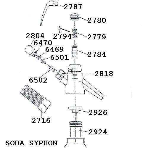 Isi Soda Syphon Spare Part 2716 Bulb Holder Ezychargers