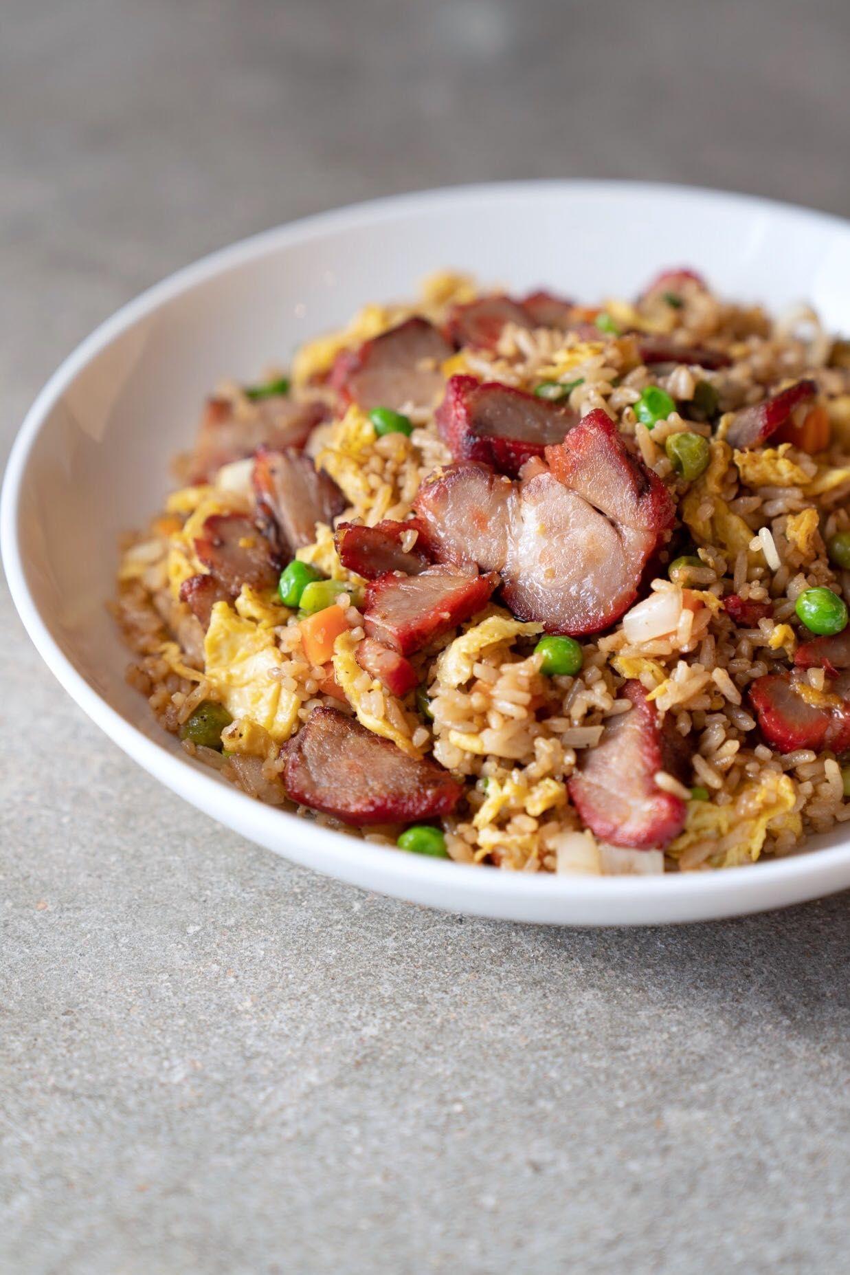 Char siu bbq fried rice in 2020 pork fried rice fried