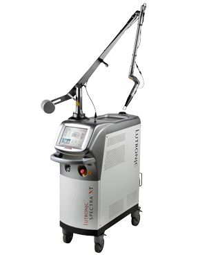 The Q-Switched carbon laser with Spectra mode Spectra is a Q-Switched Nd:YAG laser that provides four modalities:  Q-Switched 532 & 1064 nm for superficial & deep pigments removal. Unique long pulse Spectra mode for better carbon peeling in skin rejuvenation. K-PTP mode for pigmentation removal in sensitive skins.