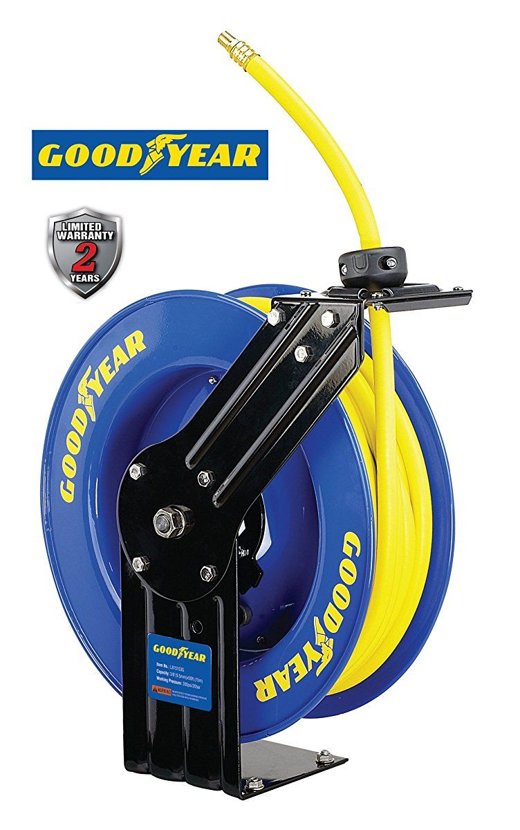 Goodyear L815153G Steel Retractable Air Compressor/Water