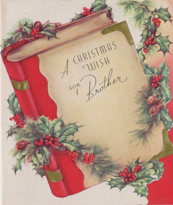 Vtg 1940 S Christmas Book Holly Gold Foil Holiday Greeting Card Weihnachtsgrusse Weihnachten Weihnachtszeit