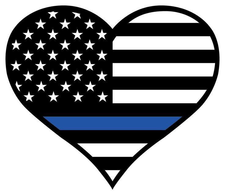 Thin Blue Line Heart Sticker | Free Cricut & Silhouette ...