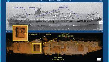 Shipwreck Images of the USS Saratoga (CV-3) in Bikini Atoll