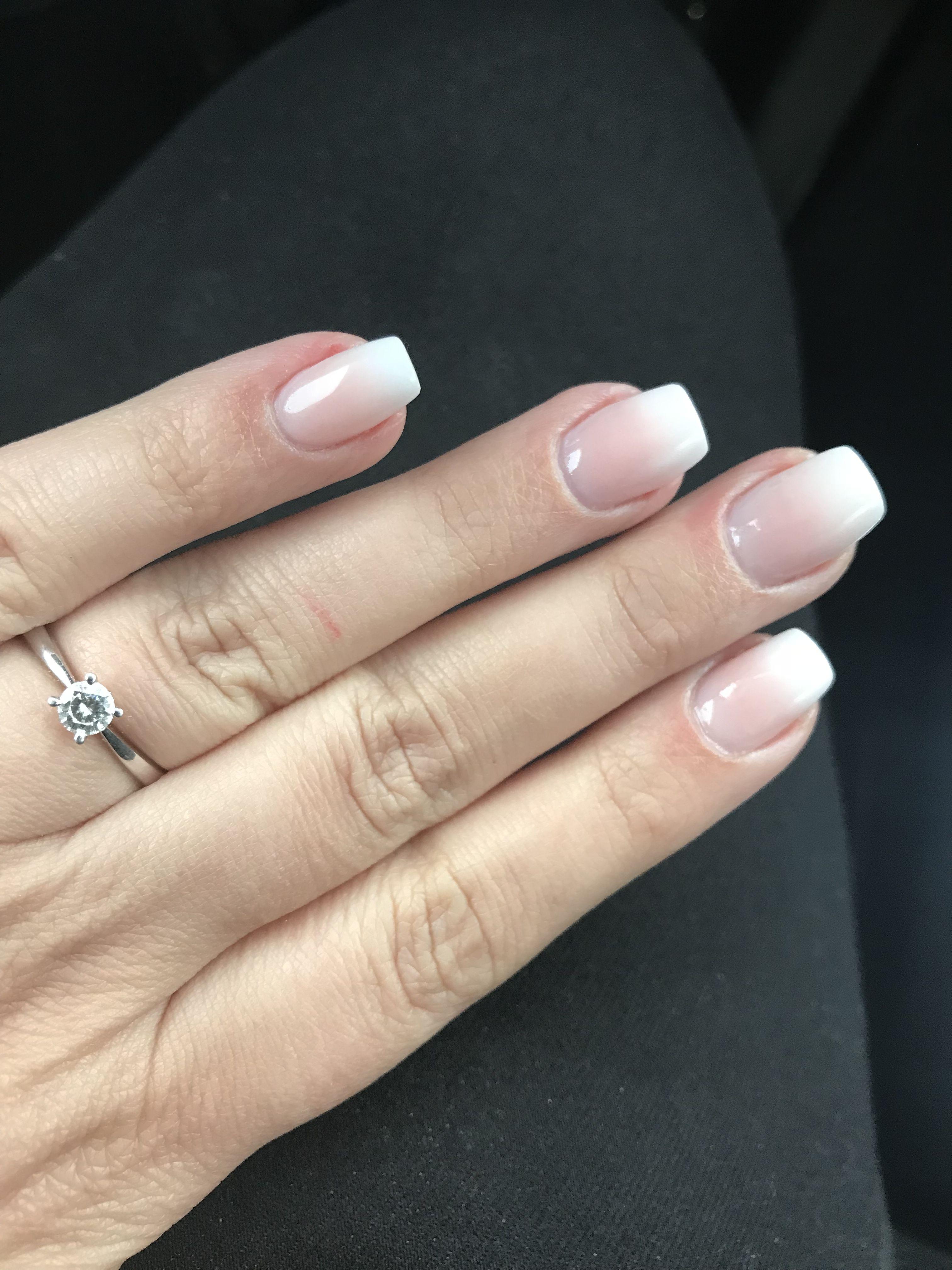 Babyboomer cuffin nails acryl nails engagement ring diamond | Nägel ...
