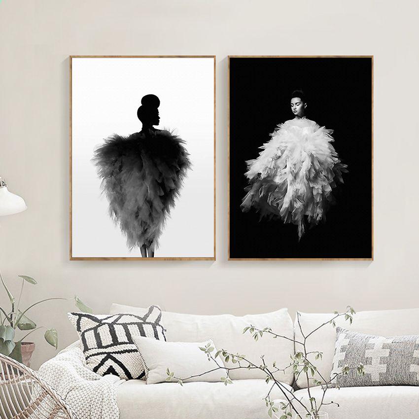 Nowoczesne Dziewczyny Mody Obraz Na Płótnie Plakaty Abstrakcyjne