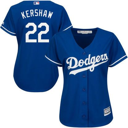 6de959b3cdd Women's Los Angeles Dodgers Clayton Kershaw Majestic Royal Alternate Cool  Base Player Jersey