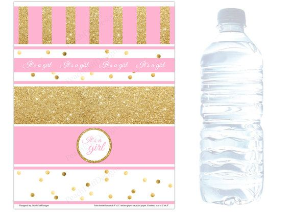 Baby Shower Water Bottle Labels Instant Download Baby Shower Water Label Bottle Label Template Water Bottle Labels Baby Shower Water Bottle Labels Template