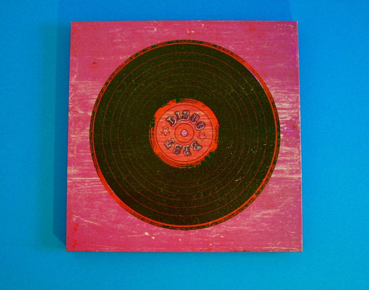 """""""Best Disco"""" Record Piece  Medium: Unknown  Artist: Unknown Price: $40  ☀Flea Market Find☀"""