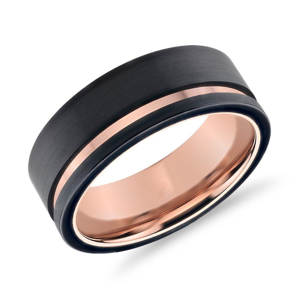 Asymmetrical Black Rose Engraved Wedding Band In Tungsten 8mm Blue Nile Tungsten Wedding Bands Wedding Band Engraving Mens Wedding Rings