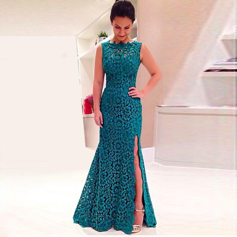 Find More Evening Dresses Information About Abendkleider Long Lace