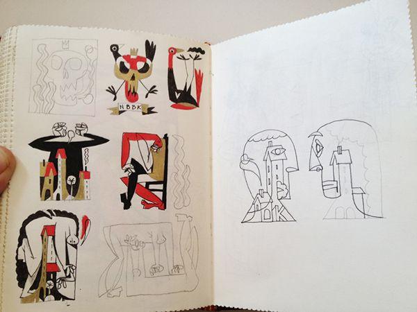 Libretas De Dibujo De Un Artista Freelance: Red Sketchbook On Behance