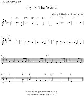 Free Sheet Music Scores: Alto saxophone Christmas | Xmas music in