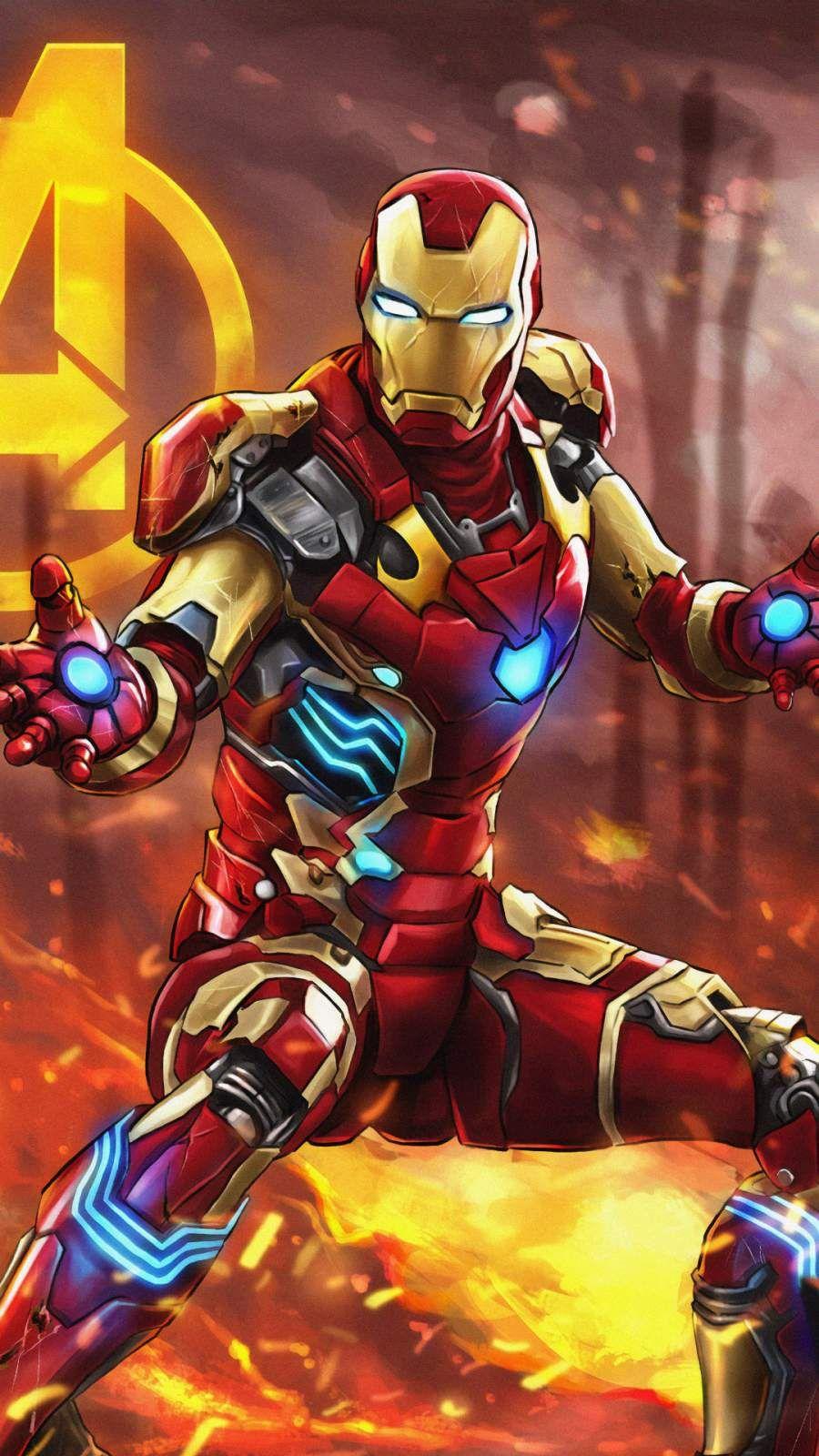 The Iron Man Art Iphone Wallpaper Iron Man Art Superhero Wallpaper Avengers Wallpaper