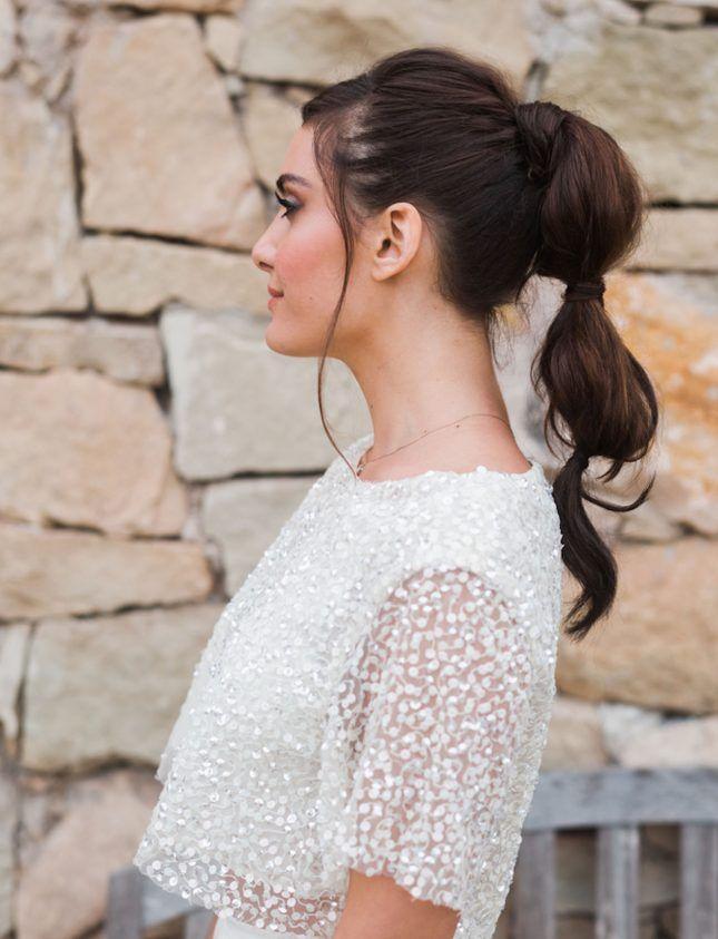 7 Romantic Ways to Rock a Ponytail at Your Wedding | Wedding hair inspiration, Wedding ...