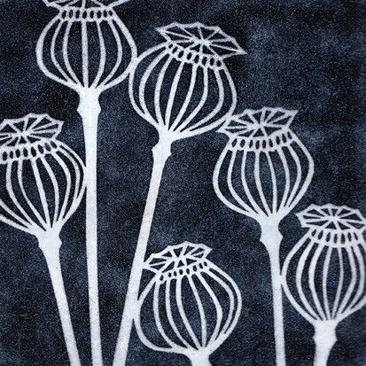 Janine Partington Poppy Seedheads Pattern And Colours
