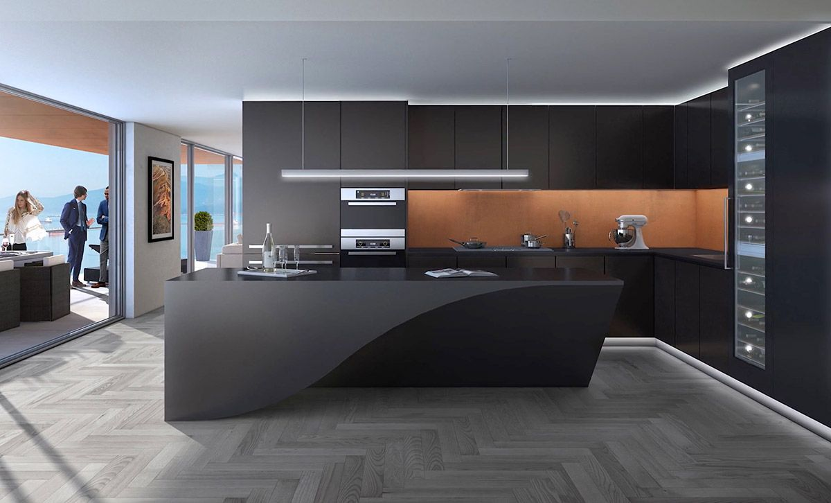 50 Modern Kitchen Designs That Use Unconventional Geometr ...