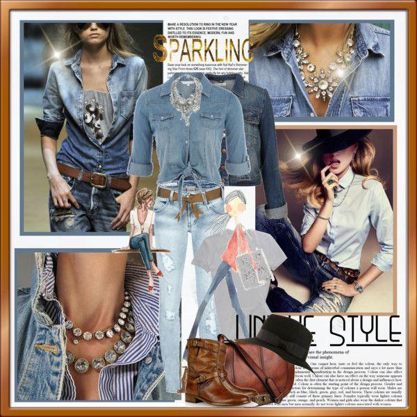 style jean dress 60th