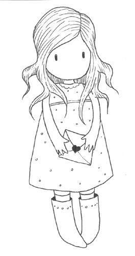letter girl   Dibujos en tela, Dibujos