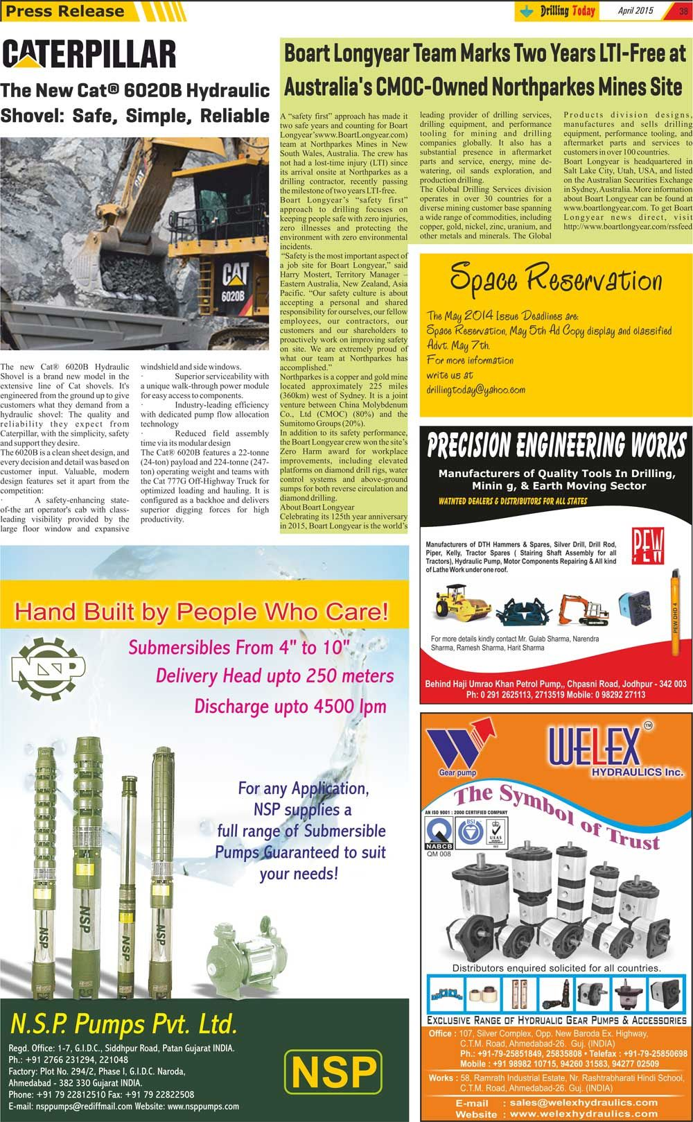 Drilling today drilling magazine april 2015 page 38