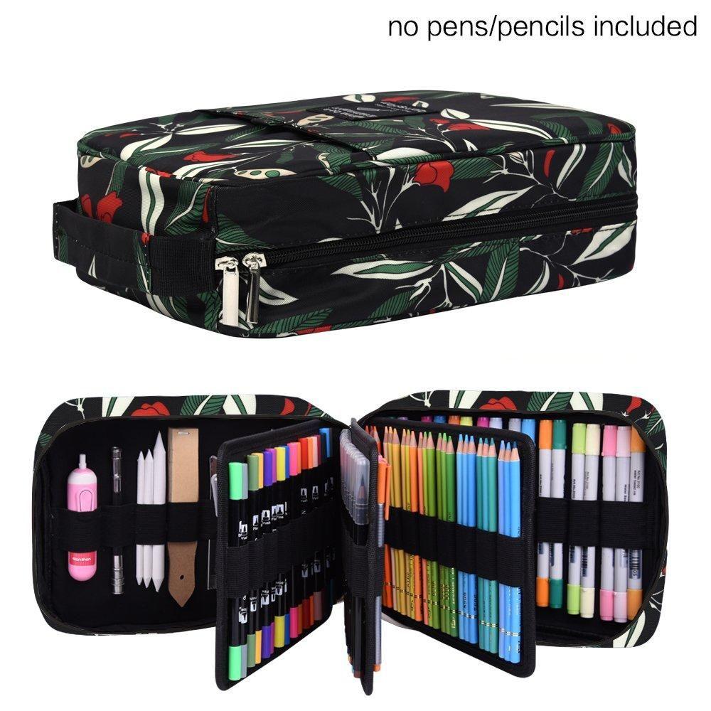 202 colored pencils pencil case 136 color gel pens pen