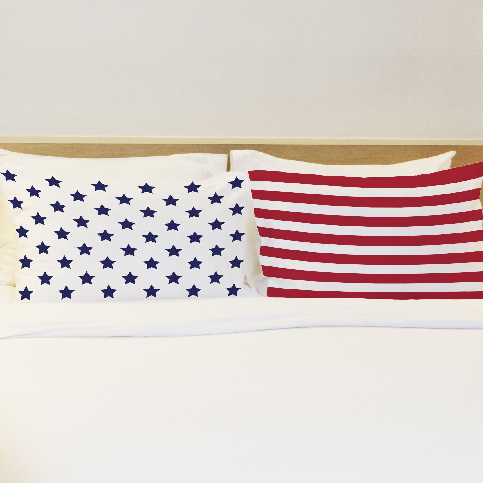 Better Together 2 Piece American Flag Pillow Case Set