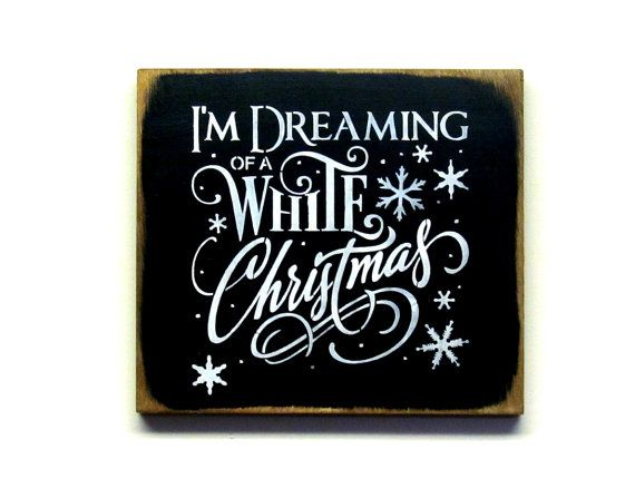 Wooden Winter Sign, Christmas Decoration, White Christmas Sign, Holiday Decor, I'm Dreaming of a White Christmas, Winter Decor, Winter sign is part of Winter decor Signs - Woodticks ref si shop ★ ★ ★ ★ ★ ★ ★ ★ ★ Thanks for looking ~Donna