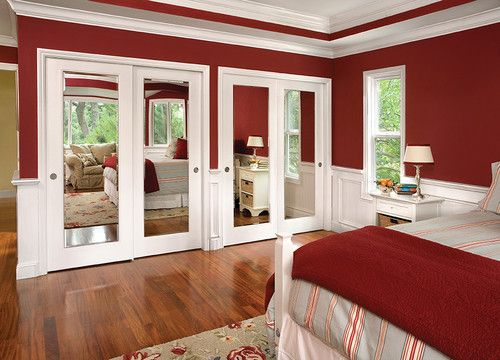 Maybe Update Mirrored Sliding Closet Doors With These For The
