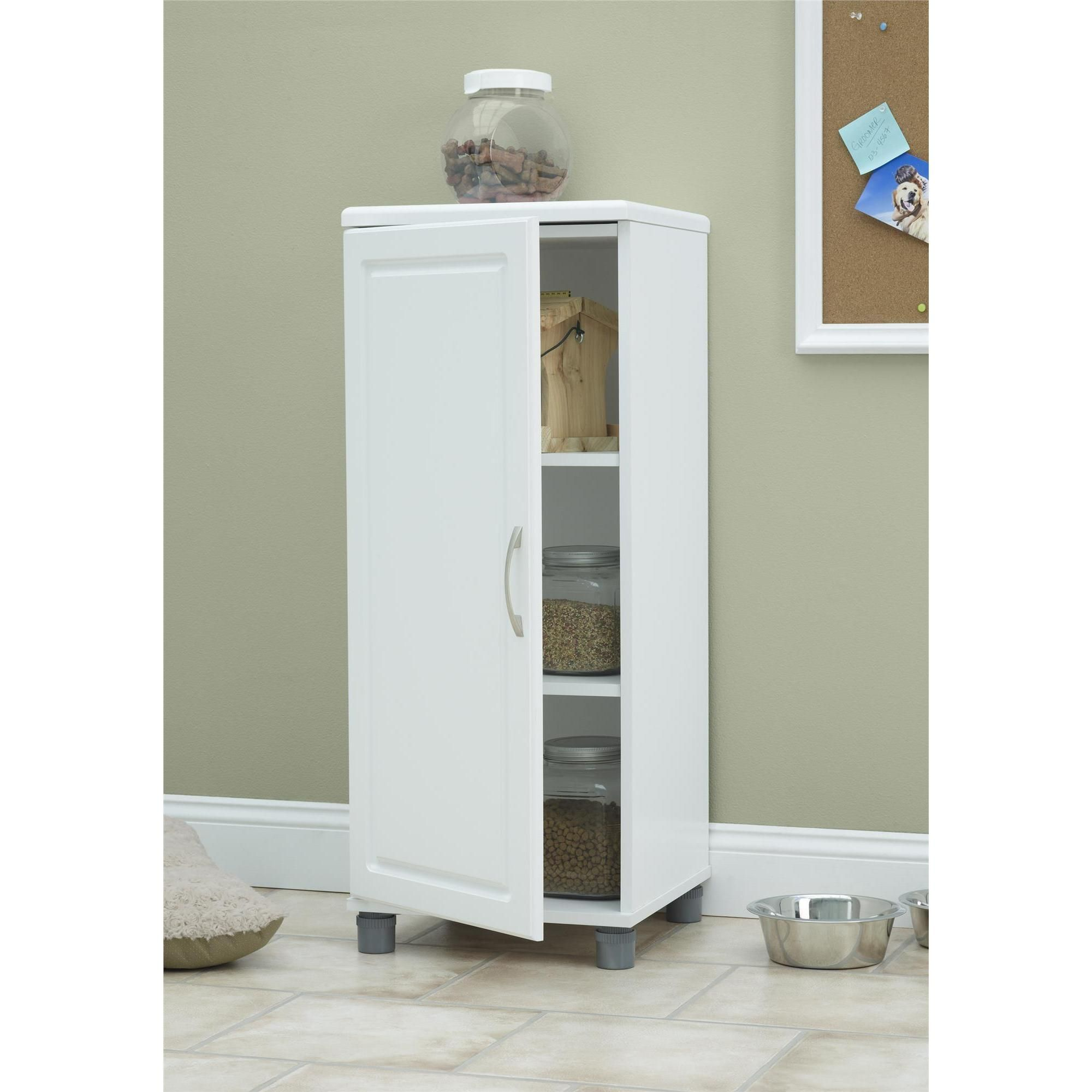 Systembuild White Kendall 16 Inch Stackable Storage Cabinet 16