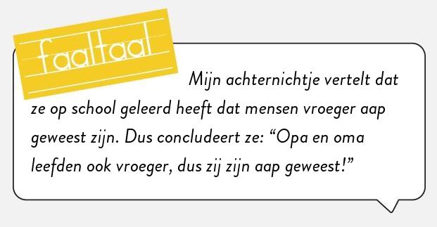 De evolutie heeft het tempo erin. #faaltaal  (Met dank aan Michelle van Kruijsbergen!)